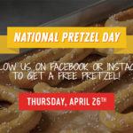 Free Pretzel At Pretzelmaker On April 26th