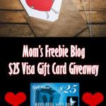 Mom's Freebie Blog - $25 Visa Gift Card Giveaway