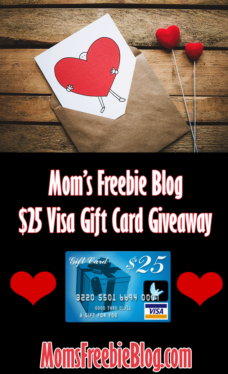 Mom's Freebie Blog - $25 Visa Gift Card Giveaway