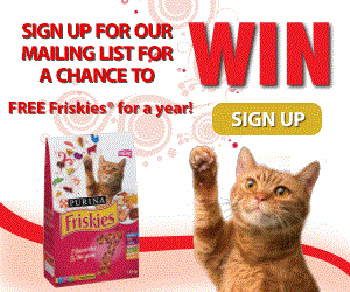 Enter To WIN Friskies For A Year