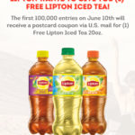 FREE 20oz Lipton Iced Tea (Coupon) - First 100K June 10th