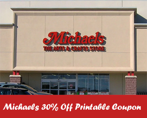 Michaels 30% Off Printable Coupon + More