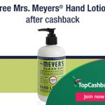 FREE Mrs. Meyer's Lotion (After Cashback) Offer