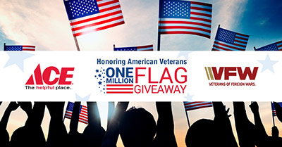 FREE American Flag at Ace Hardware May 25th