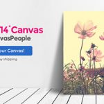 FREE 11X14 Canvas From CanvasPeople