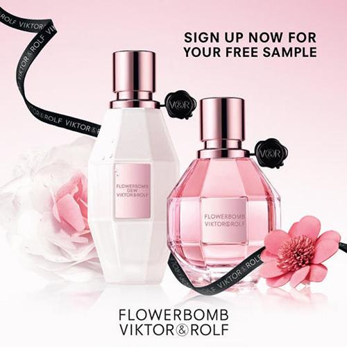 FREE Viktor & Rolf Flowerbomb Fragrance Sample